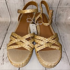 A NEW DAY Wicker Natural Luisa Sandals Sz 11